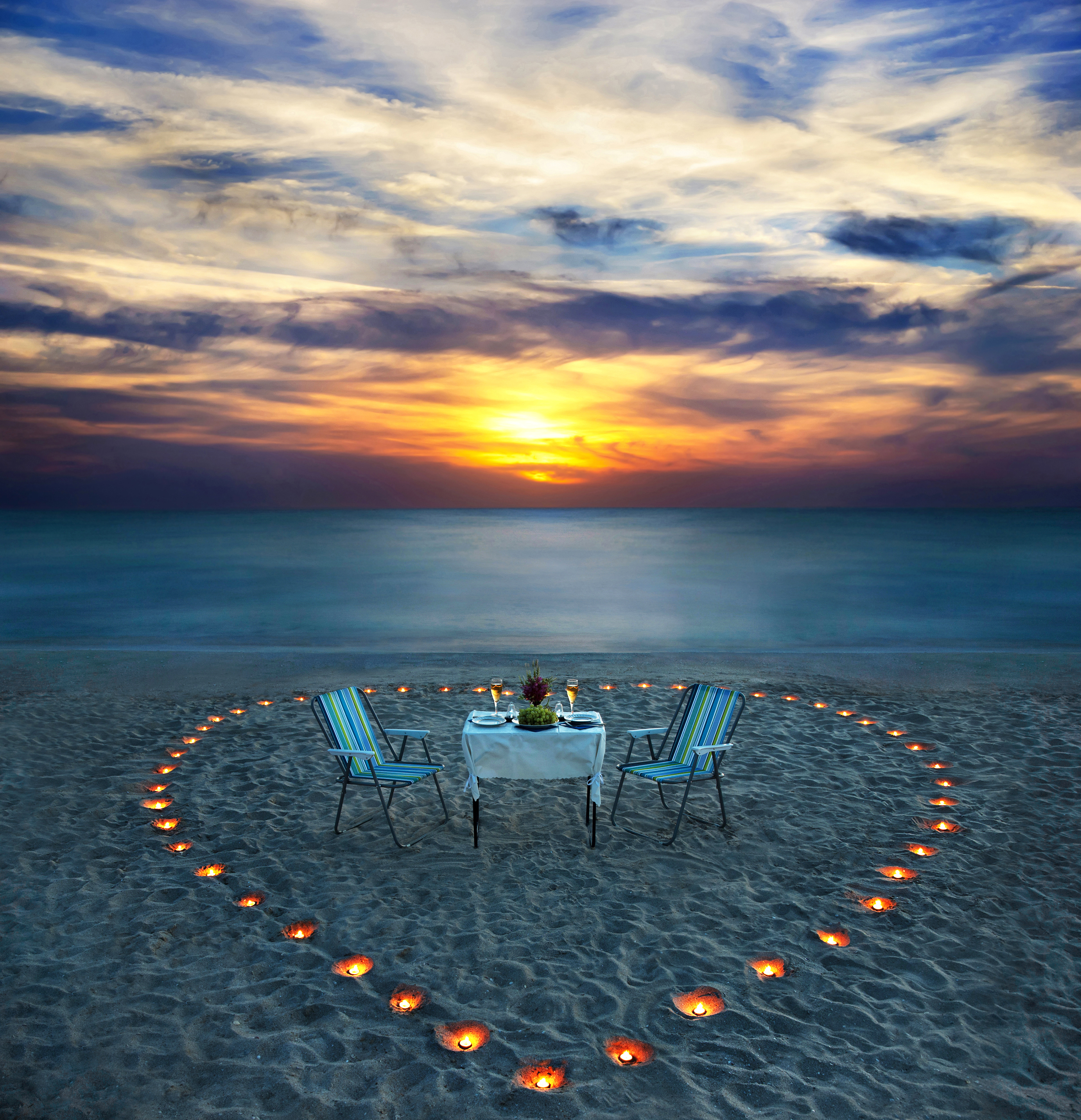 gallery for romantic beach candles