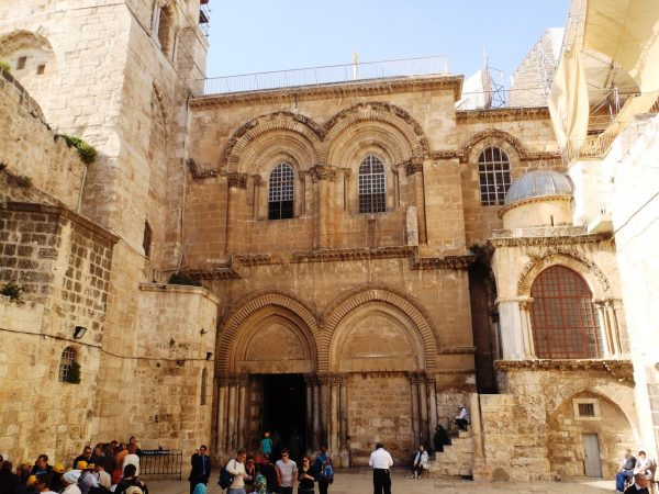Entrance to the Church of the Holy Sepulcher in Jerusalem
